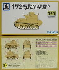 Vickers Light Tank Mk.VIB ,1/72, S-Model ,Doppelpack 2 Modelle , NEU,