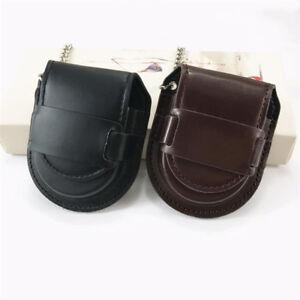 New Pocket Watch Leather Case Pouch Storage Holder Box Bag Belt Attachment TR16