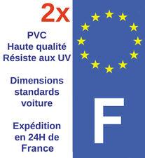 Sticker Autocollant F plaque d'immatriculation Adhésif HQ Département France X2