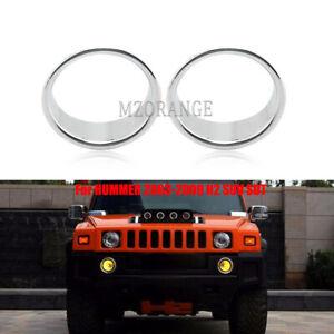 Chrome Fog Light Trim Bezel Cover Ring For HUMMER 2003 2004-2009 H2 SUV SUT PAIR