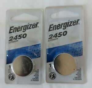 Energizer CR2450 Lithium Batteries 2 packs of 1 Best Before 03/2029