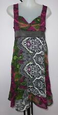FACE OFF Size 10 Paisley Design Black Poly Organza - Lined Dress
