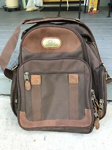 Mossy Oak Shoulder Bag Brown Canvas And Leather