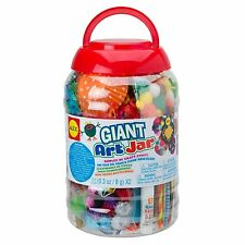 Giant Art Jar ALEX Toys Craft Glitter Pom Poms Pipe Cleaners Feathers Kids New
