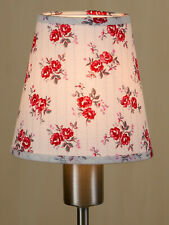 Lampenschirm Aufsteckschirm rote  Frühlingsblumen Klemmschirm Kronleuchter