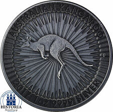 1 oz Silver Australian Kangaroo 2017 - 1 Dollar Silver Coin Antique Finish