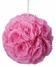 "10"" Rose Flower Pomander Kissing Balls Wedding Pew, Home Decoration pink"