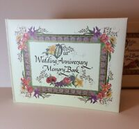 Our Wedding Anniversary Memory Book Album Scrapbook Floral Talus Vtg Marriage