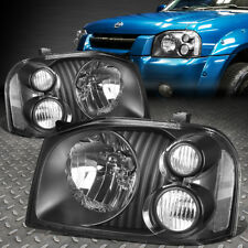 FOR 2001-2004 NISSAN FRONTIER PAIR BLACK HOUSING CLEAR SIDE HEADLIGHT/LAMP SET