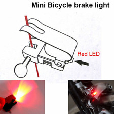 1xMini Bike Brake Light Mount Tail Rear Bicycle Cycling LED Safety Warning Lamp
