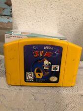 Earthworm Jim 3D Nintendo 64 N64 Authentic Video Game Yellow Cart Rare OEM GOOD