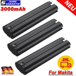 9,6Volt Akku für Makita 9,6V 3,0Ah NI-MH 9000 9001 9002 9033 9600 6096D Batterie