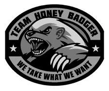 TWO  - Vinyl Sticker Decal - TEAM HONEY BADGER - SWAT Color