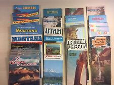 30 x 1961 - 1971 Western States Travel Maps - 14 States - Good Condition