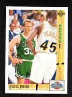 1991-92 Upper Deck #30 Larry Bird Boston Celtics VS Chuck Person Pacers Card NM+