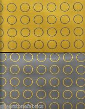 5.375 yds Maharam Upholstery Fabric Repeat Dot Ring Reversible Gold Gray NQ2