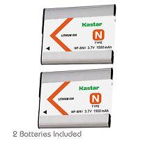 2x Kastar Battery for Sony NP-BN1 DSC-W810 W830 WX5 WX7 WX30 WX50 WX70 WX80