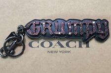 Coach Disney Snow White GRUMPY Bag Charm Leather Glitz KeyChain