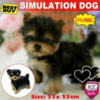 Pet Yorkie Dog Simulation Toy Dog Puppy Lifelike Stuffed Companion