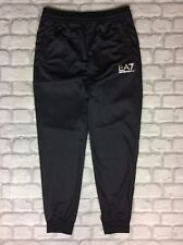 EMPORIO ARMANI EA7 MENS UK S BLACK POLY SWEATPANTS JOGGING BOTTOMS GYM TRAINING