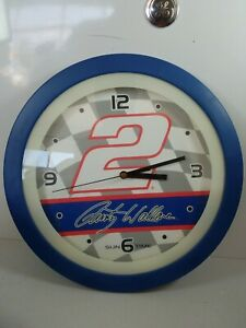 Vintage Nascar Rusty Wallace Miller Sun Time Wall Clock