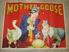 Original Old Vintage 1930's - MOTHER GOOSE - THEATRE Show POSTER - Pantomime