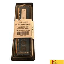 4GB DDR3 1600 PC3 12800 240 Pin 1.5V CL11 Non ECC UDIMM For Desktop Computers