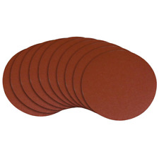 240 Grit Adhesive Sanding Disc/Self Stick Sand Paper 8 in. (10-Pack)
