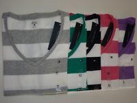 NEW Tommy Hilfiger Short sleeve Striped T-Shirt For Women XS S M L