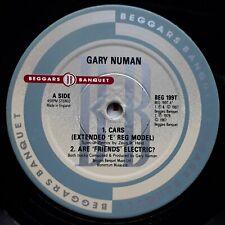 GARY NUMAN - Cars 'E' Reg - LABEL VARIATION (EXPORT?) - VERY GOOD CONDITION