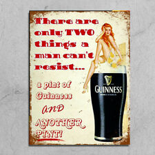 Metal Signs retro vintage style Men cant resist woman Guinness funny wall plaque