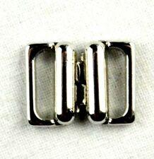 Bikini Verschluss  Silber  10 mm Trägerbandbreite