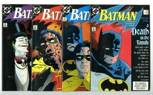 Batman #426-429 Death In the Family Complete Set Avg VF to VF+ New DC Collection