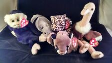 Ty Beanie Babies Forest Animals Lot - Mooch, Canyon, Freckles, Ants, Stretch