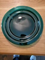 Emerald Green Tiered Salad/ Lunch Plate ? Blenko Step plate Set of 4