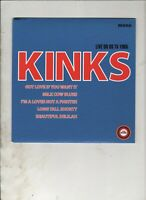 "THE KINKS Live on US TV 1965 UK 7"" EP w/PS RE 60s GARAGE R&B"