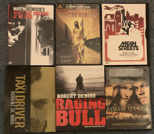 6 Martin Scorsese Dvds: Boxcar Bertha, Mean Streets, Taxi Driver, Raging Bull