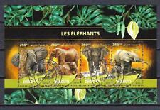 Animaux Eléphants Djibouti (239) série complète 4 timbres oblitérés en feuillet