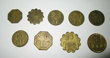 9 SJ Farm PICKERS CHECK COINS TOKEN ANNE ARUNDEL MD 1 2 5 10 20 50 100 500 1000