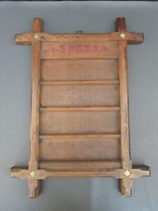 Vintage oak church or chapel hymn board - wall mounted religious antique