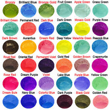 50g Natural Mineral Mica Powder Pigment Soap Cosmetic Colorant DIY Dye 36 Colors