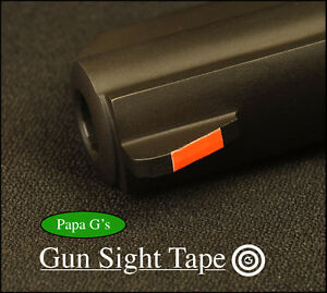 """Gun Sight Tape, Don't paint!, make your Sight POP! 21"""" total inches. 3 colors."""