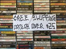 $1.5-$7 Cassette Tapes Rock R&B Pop Hip Hop Country Jazz Folk 70s 80s 90s 00s E