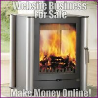 WOOD BURNING STOVES Website Business Earn £150 A SALE|FREE Domain|FREE Hosting