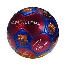 Fc Barcelona Signature Ball Size 5 Messi! Iniesta! Free Shipping
