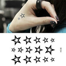 Hollow Star Water Transfer Star Waterproof Temporary Tattoo Sticker Product SEAU