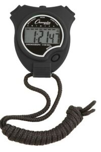 New Champion All Sports Walking Running Stopwatch Timer Daily Alarm Black