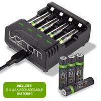 Rechargeable High Capacity Aaa Aa Batteries And Charging Dock Venom Power Ebay