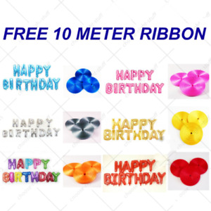 LARGE HAPPY BIRTHDAY SELF INFLATING BALLOON BANNER PARTY DECORATION UK SELLER