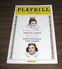 Playbill Twelfe Night King Richard The Third Mark Rylance BROADWAY Twelth III